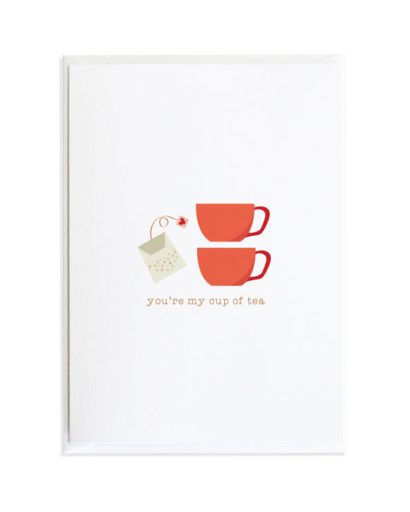 You're My Cup of Tea Greeting Card by Anne Green Design