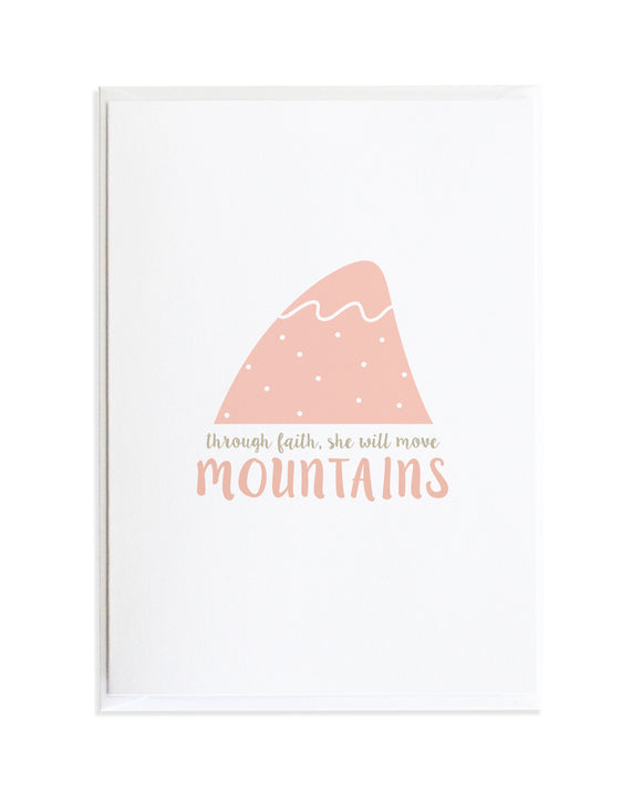 Move Mountains Encouragement Card by Anne Green Design