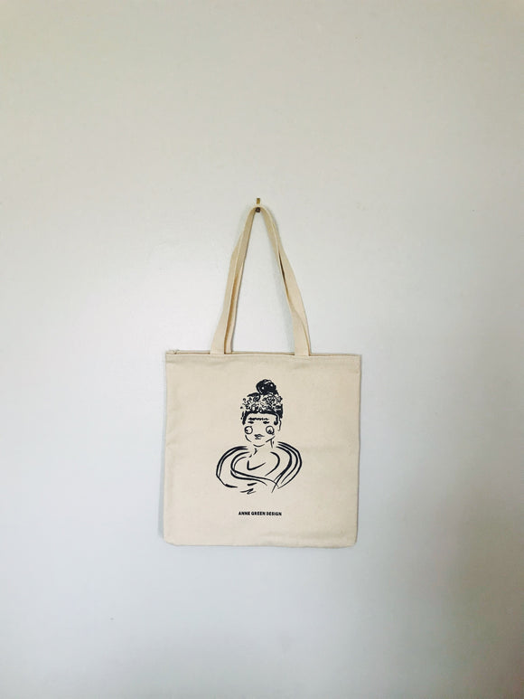Frida Kahlo Market Canvas Tote