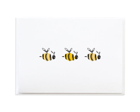 Bee Greeting Card by Anne Green Design