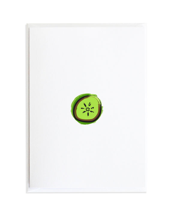 Citrus Kiwi Greeting Card by Anne Green Design
