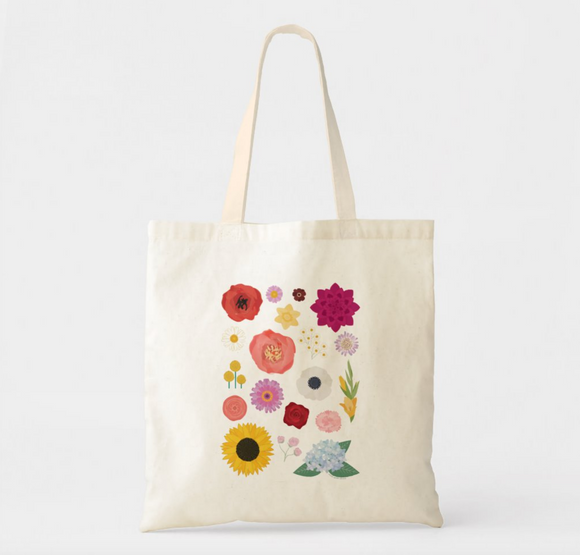 Flower Canvas Tote