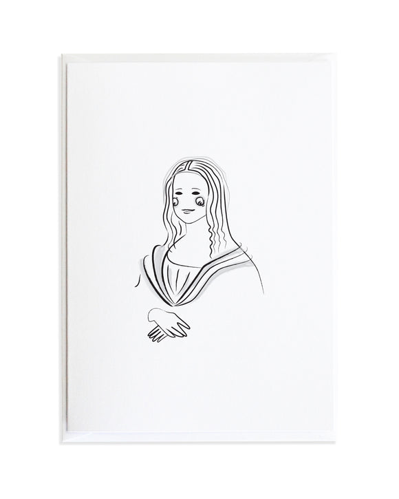 Bold Female Series Mona Lisa Greeting Card by Anne Green Design