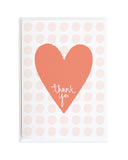 Thank you from the bottom of my heart Thank You Card by Anne Green Design