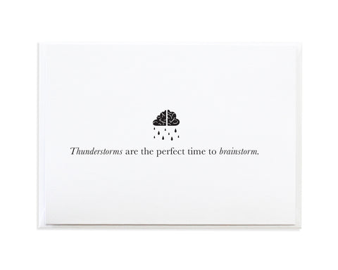 Thunderstorm Brainstorm Encouragement Greeting Card by Anne Green Design