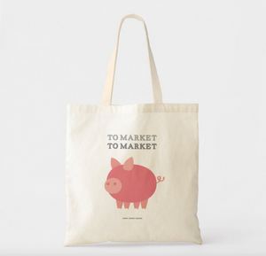 To Market To Market Pig Canvas Tote