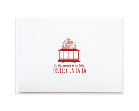 Trolley Christmas Card by Anne Green Design