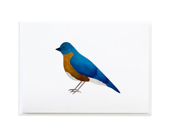 Watercolor Bluebird Greeting Card by Anne Green Design