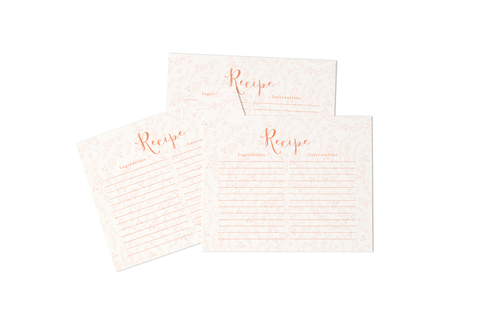BLUSHING RECIPE CARDS