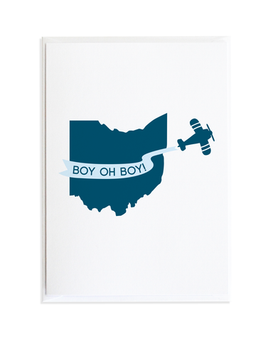 BOY OH BOY BABY CARD - BLUE