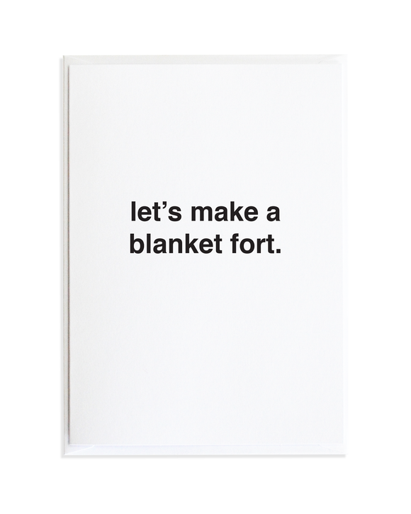 Blanket Fort Just Because Greeting Card by Anne Green Design