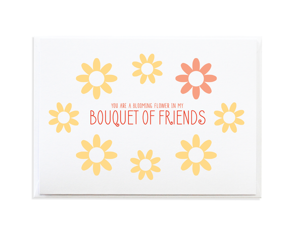 Bouquet of Friends Greeting Card