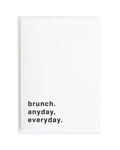Brunch Just Because Greeting Card by Anne Green Design
