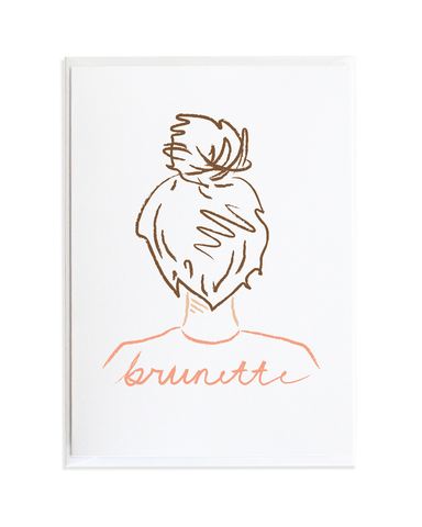 TOP KNOT CARD