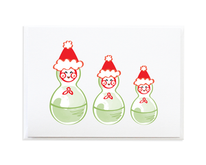 Matryoshka Nesting Dolls Christmas Card