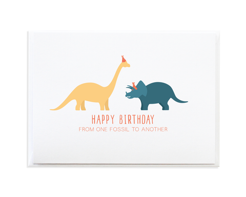 FOSSIL BIRTHDAY CARD
