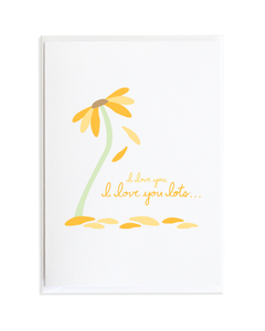 I LOVE YOU LOTS FLOWER CARD