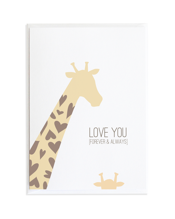 Mama and Baby Giraffe Card