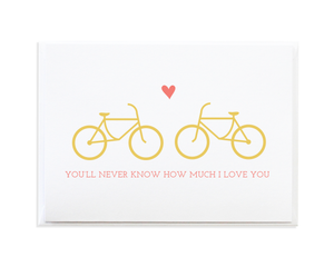 Love Romance Bike Greeting Card by Anne Green Design