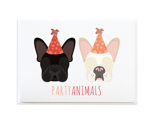 FRENCH BULLDOG PARTY ANIMALS CARD