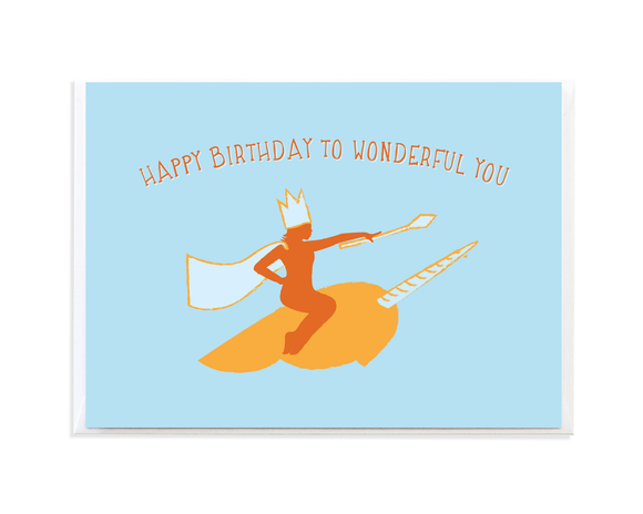 Narwhal Queen Birthday Card by Anne Green Design