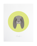 Rabbit Custom Pet Portrait by Anne Green Design