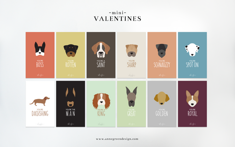 MINI MAN'S BEST FRIEND VALENTINES