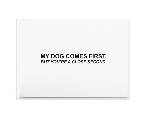 DOG FIRST CARD