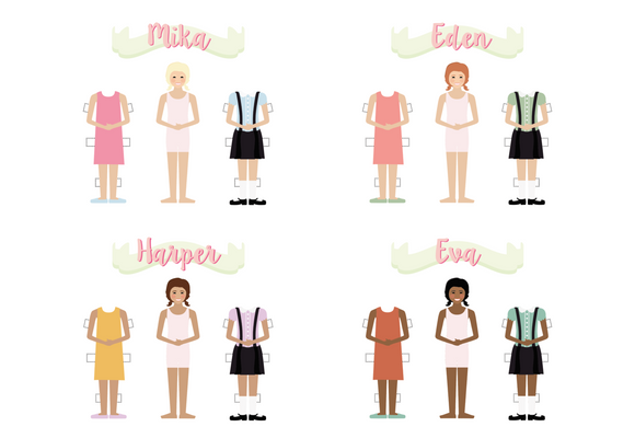 Personalized Paper Dolls Digital Copy