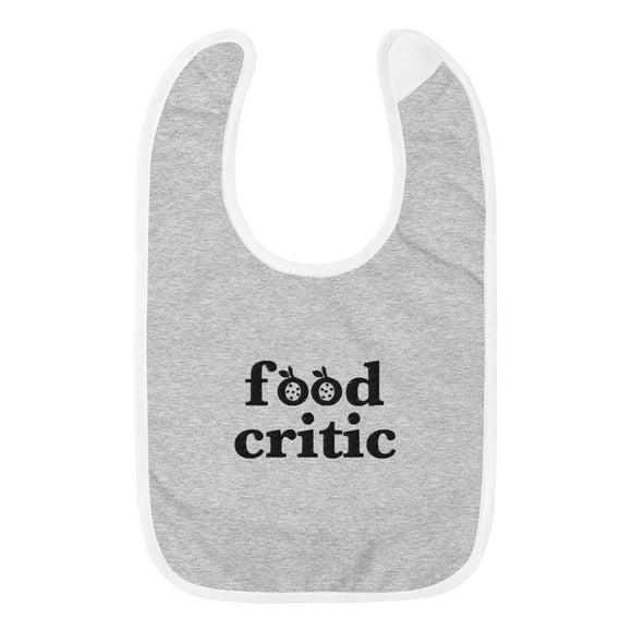 Food Critic Baby Bib