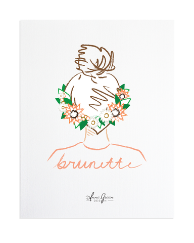 TOP KNOT FLOWER CROWN PRINT