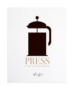 FRENCH PRESS COFFEE PRINT