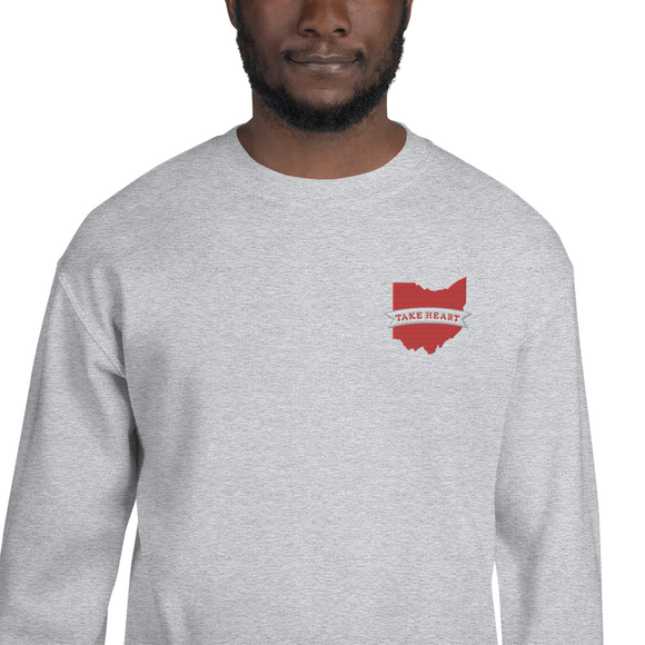 Ohio Take Heart Sweatshirt by Anne Green Design