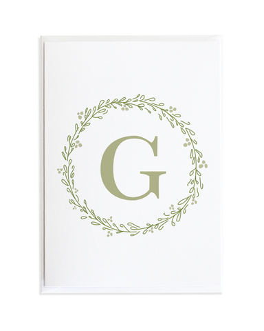 MONOGRAM CARD SET