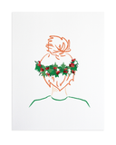 Holiday Top Knot 8x10 Print