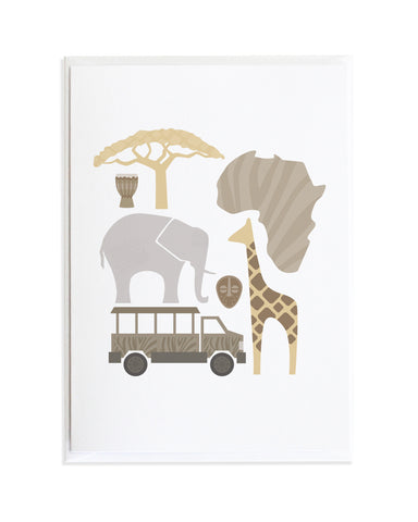 AFRICA WORLD TRAVEL POSTER CARD