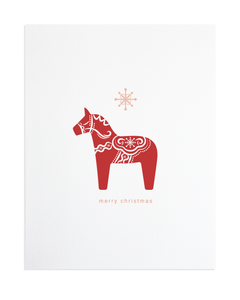 Dala Horse Holiday Print
