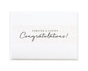 Forever and Always Congratulations Wedding Card