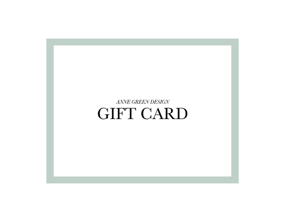 *Anne Green Design Gift Card!