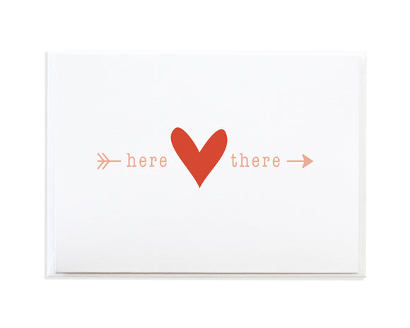 HERE TO THERE LOVE CARD
