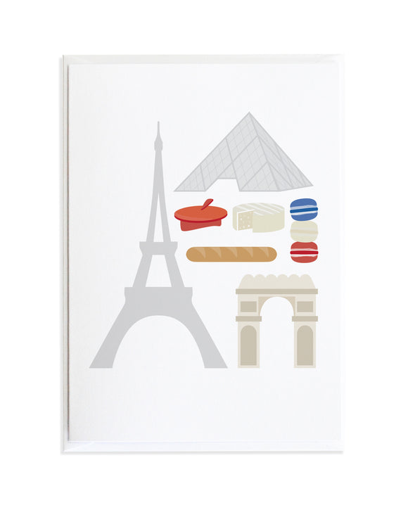 PARIS WORLD TRAVEL POSTER CARD