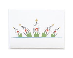 SYNCHRONIZED SWIMMING CHRISTMAS CARD