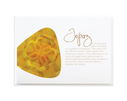 TOPAZ - NOVEMBER BIRTHSTONE CARD
