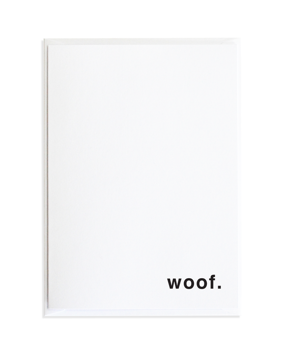 Woof Just Because Greeting Card by Anne Green Design