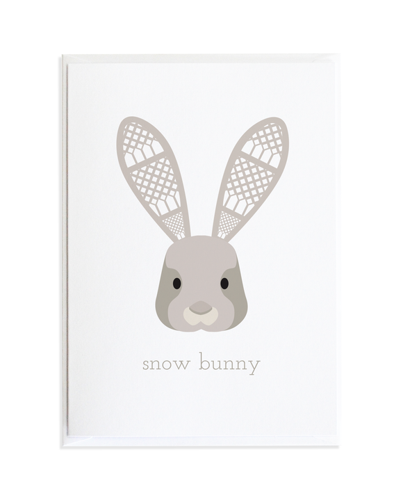 SNOW BUNNY CHRISTMAS CARD