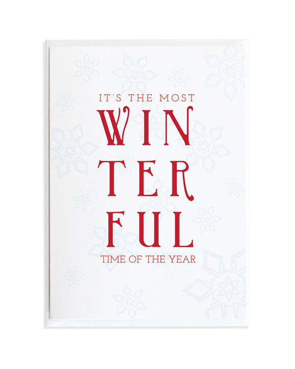 Winterful Time of the Year Christmas Card
