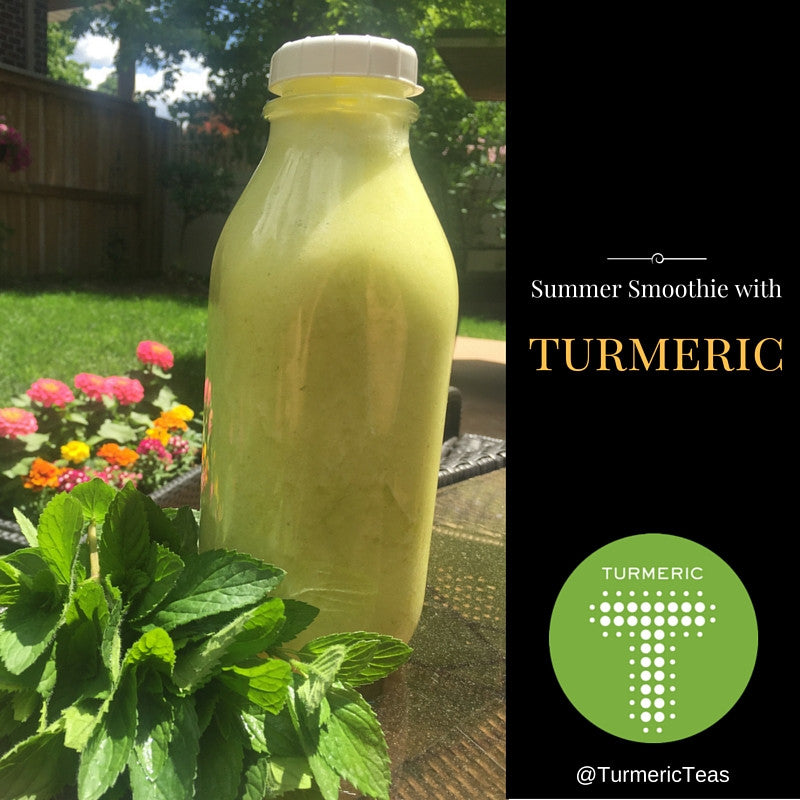 Turmeric, Mint and Pineapple smoothie