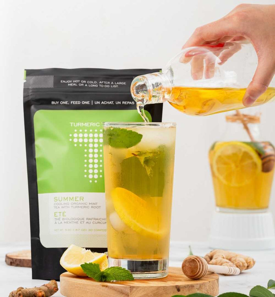 Turmeric Peppermint Iced Tea