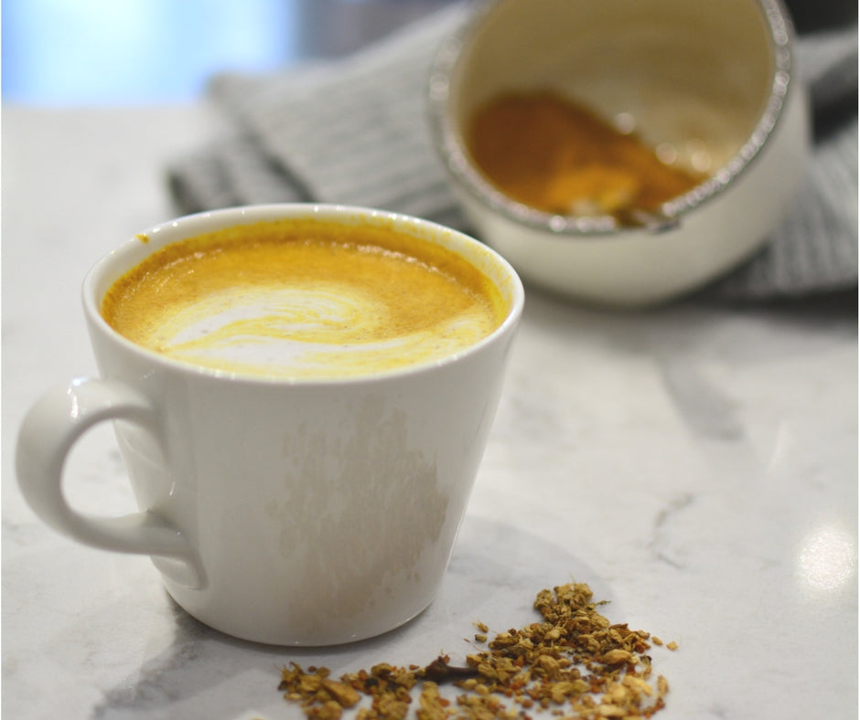 Our Turmeric Superfood Latte... made by our friends at Grosche!