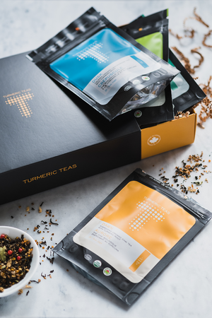 TurmericTeas.com | Turmeric Teas Gift Box and Subscription, Organic Turmeric Tea, Loose Leaf, Give the gift that gives